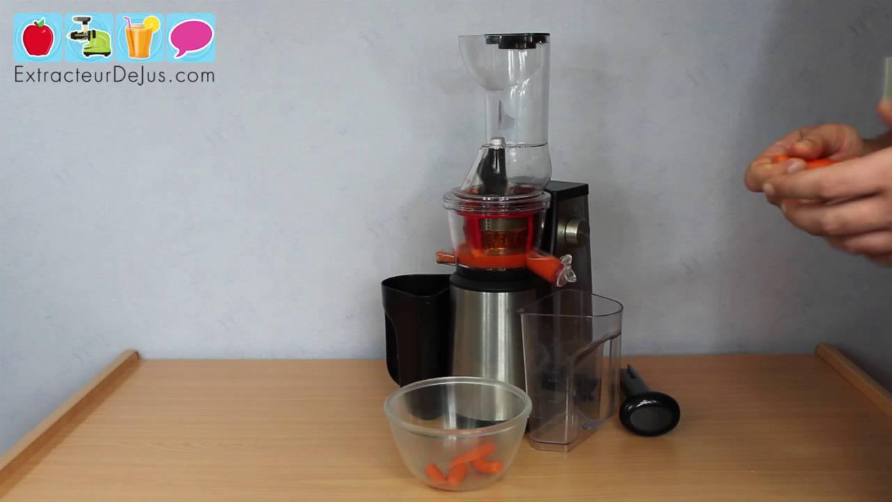 jus de carotte avec l 39 extracteur de jus h koenig gsx18 youtube