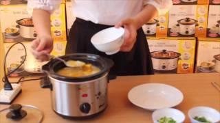 Món cháo thịt heo hầm bí đỏ bằng nồi nấu cháo cho bé BBcooker.vn