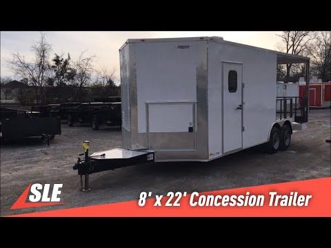 White V-Nose Concession Trailer Walkthrough