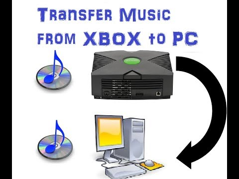 copy CD to XBOX and  transfer music from xbox to PC