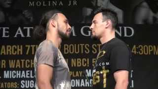 Keith Thurman vs. Robert Guerrero final face off before they fight