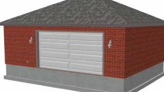 #g456 24 X 30 X 10 Hip Brick Eave Side Doors Garage Plan