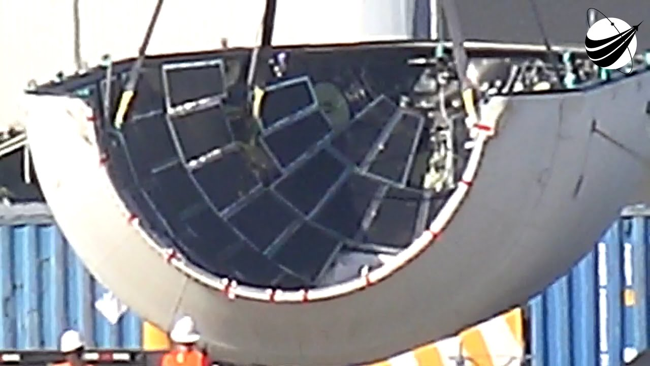 spacex heavy fairing recovery - 1280×720