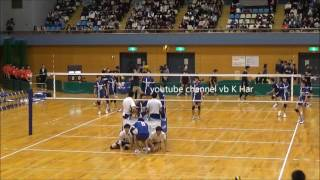 Painful volley ball spike from All Japan Inter College match