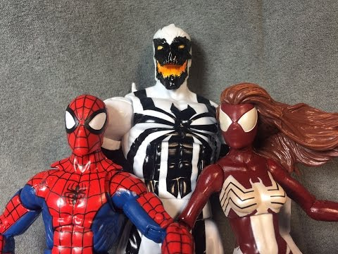 Marvel Legends Spider Man Part 1 Anti Venom, Spider Woman, Spider Man