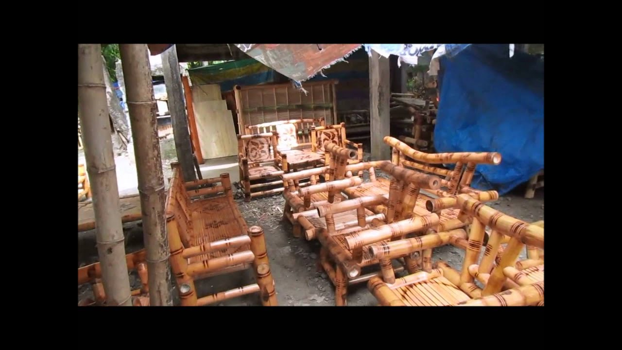 Philippine Handmade Bamboo And Mahogany Furniture Here Youtube