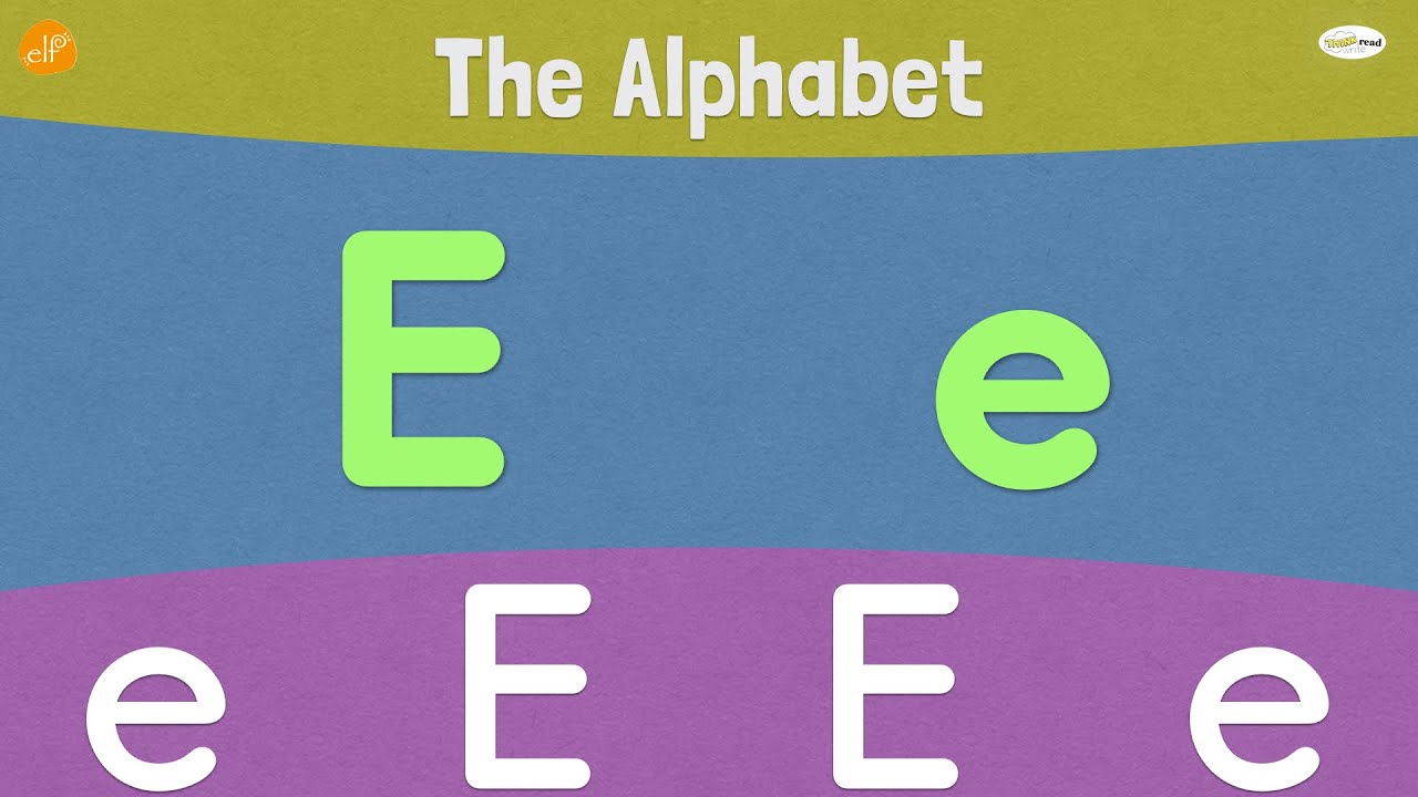 Letter E | Early Phonics | Think Read Write | ELF Learning ...