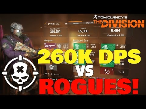 The Division: 260K DPS vs ROGUES! Easy Kills with Dark Zone DPS BUILD!