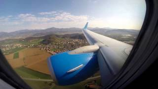 Boeing 737-800 Pobeda Airlines,Landing at Bergamo,Orio al Serio airport (BGY)