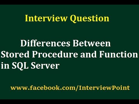 Differences between Stored Procedure and Function in SQL Server     Interview Question by D K  Gautam