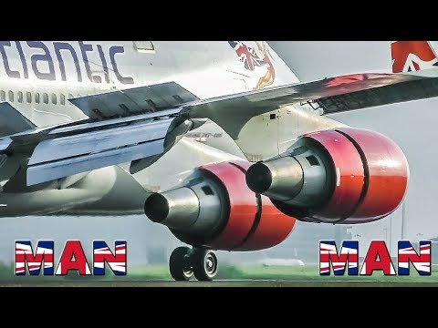 GREAT PLANE SPOTTING : Big Jets at MANCHESTER Airport