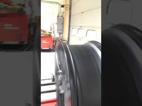 Buckled alloy wheel 3