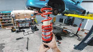 First mods to the Mazda Viper!! We dropped the Trans & Installed Raceland Coilovers!