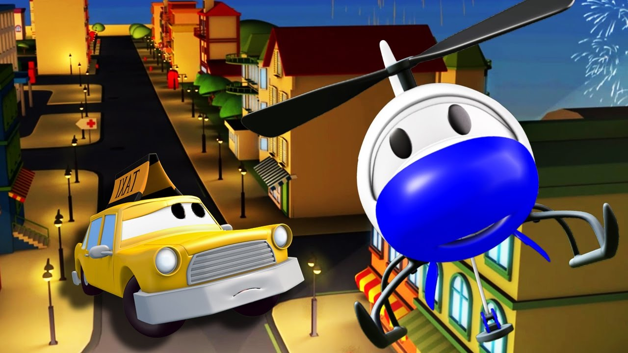 the-car-patrol-fire-truck-and-police-car-in-saving-jeremy-in-car-city-cars-trucks-cartoons