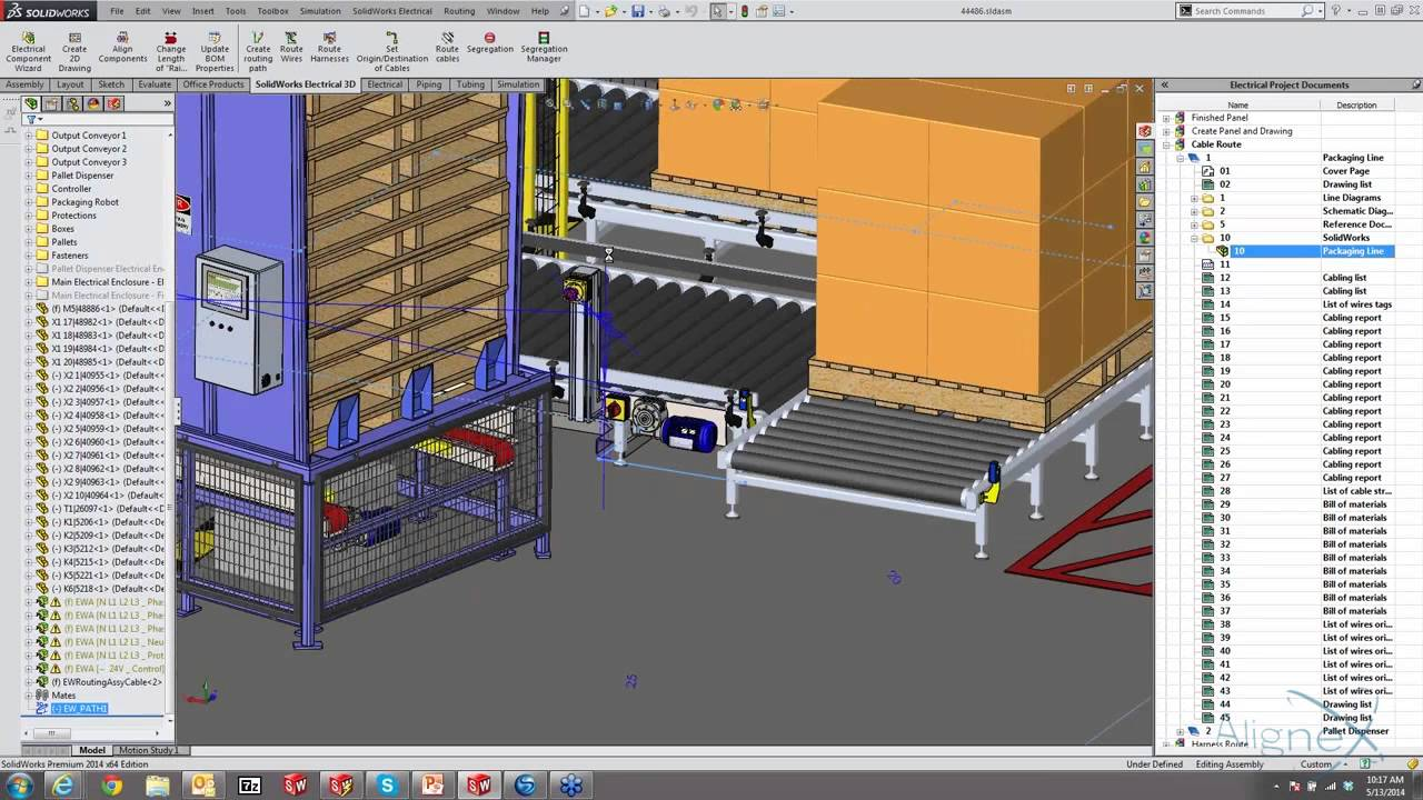 Integrating Schematics In 3d Panel Design With Solidworks Electrical Youtube