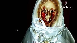 Video: Por primera vez filmaron a la Virgen que llora en Metán