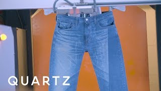 Levi's is starting to break in jeans with lasers