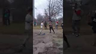 El junior beats lil white boy