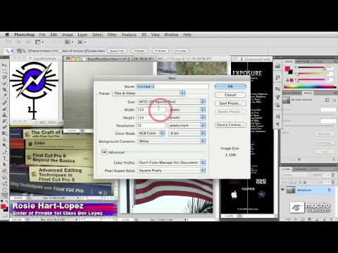 Photoshop CS5 204: Preparing Still Images For Final Cut Pro - 02 Video Frame Sizes