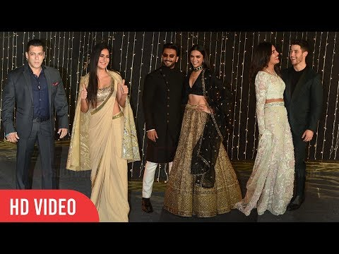 Salman-Katrina, Deepika-Ranveer, Priyanka-Nick, Janhvi-Ishaan at Priyanka-Nick Wedding Reception