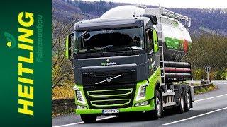 Heitling Fahrzeugbau / mit dem Silopellet-LKW der Firma Regio Pellets durch die Eifel