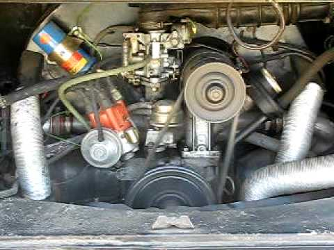 1971 VW Bus Engine Start and Stop  YouTube