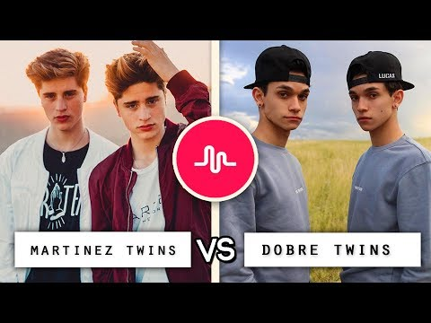 Thumbnail: Dobre Twins vs Martinez Twins Musical.ly Video Compilation / Who's the Best