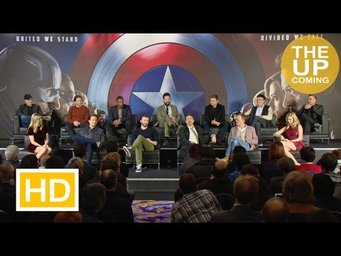 Captain America: Civil War press conference: Chris Evans, Robert Downey Jr, Paul Rudd, Daniel Bruh