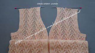 Gönül Ağacı Örgü Modeli Bayan Yelekleri Şal Örneği 1. Bölüm #244 / Knitting Patterns /Strickmuster