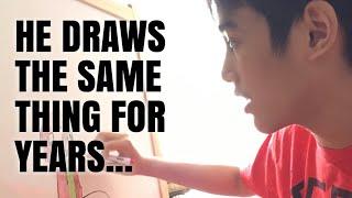 Adam Drawing Barney