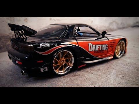 Unboxing Jada Toys Mazda RX7 (FD) Drifting Magazine Import Racer Scale 1/24 - Super Rare!!