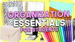 Organization Essentials for Students!