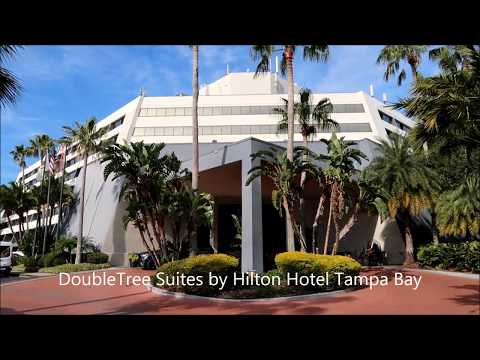 DoubleTree Suites by Hilton Hotel Tampa Bay Florida USA - Hotel and Room Tour