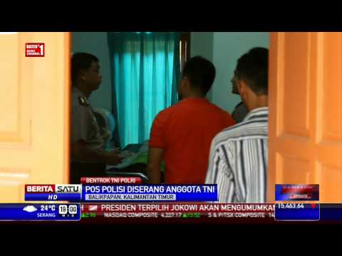 Pos Polisi di Balikpapan Diserang Anggota TNI