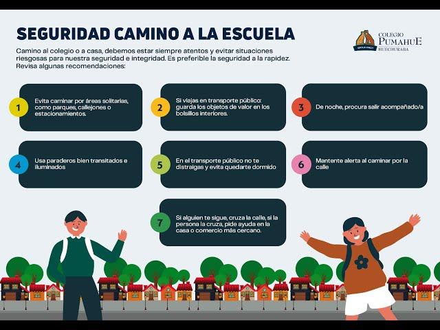 Seguridad camino al colegio, Pumahue Huechuraba