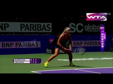 Dominika Cibulkova VS Svetlana Kuznetsova || WTA Finals Singapore 2016