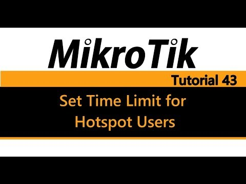 MikroTik Tutorial 43 - Set Time Limit for Hotspot Users