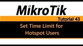 MikroTik Tutorial 43 - termijn voor Hotspot Gebruikers
