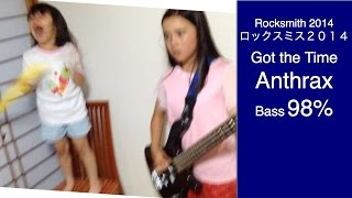 Audrey (11 years old) plays Bass - Got the Time - Anthrax - 98% (HA...