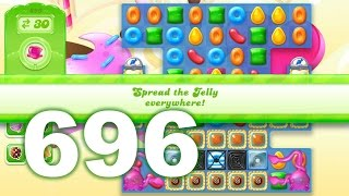 Candy Crush Jelly Saga Level 696 (3 star, No boosters)