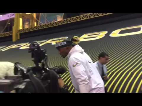 Cam Newton Enters Super Bowl Media Day #SB50