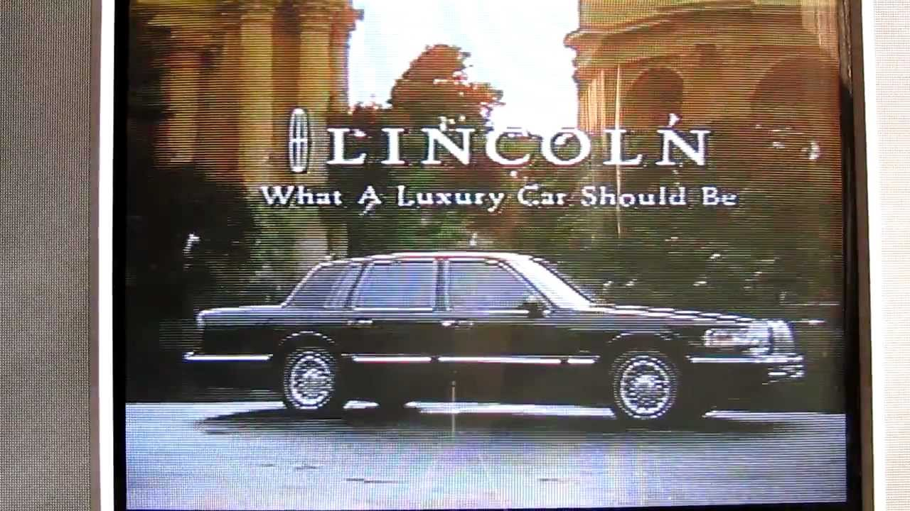 1996 Lincoln Town Car Commercial Youtube