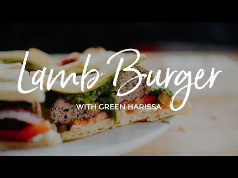 Lamb Burger with Green Harissa Recipe