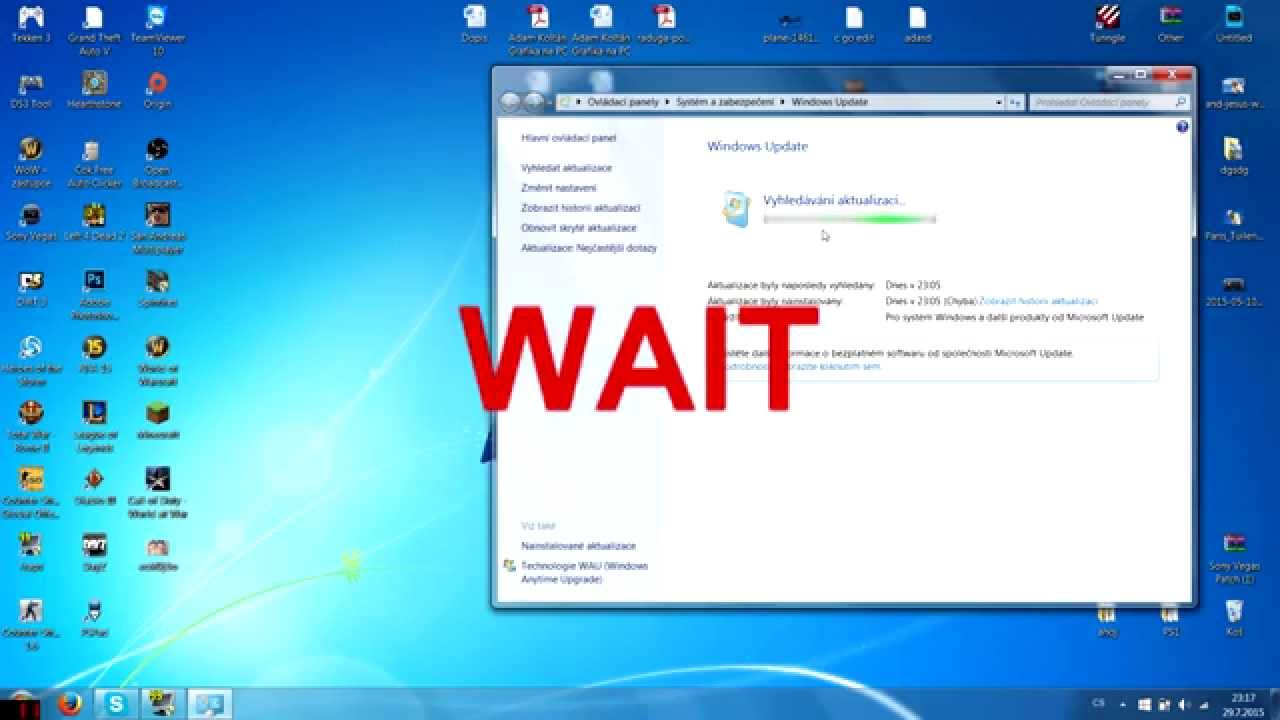 windows 7 stuck on update