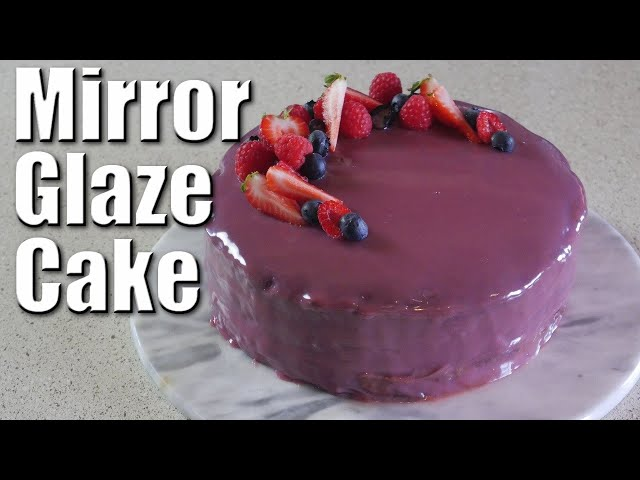 Mirror Glaze Cake | Baking With ChefJohnReed