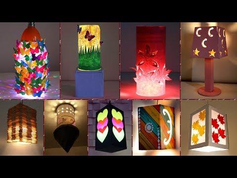 10 How to Make A Lantern !!! Beautiful Night Lamp Making Ideas