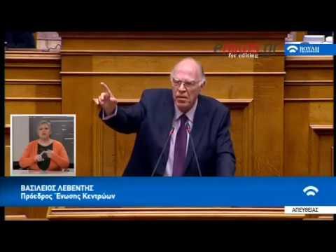B.Λεβέντης εφ ολη της ύλης στη βουλη  08/03/2018