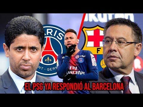 ¡Lo último! La primera respuesta del PSG al Barcelona por Neymar