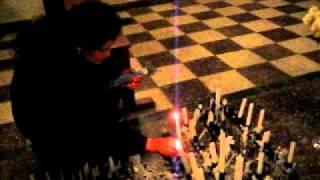 Sangayaico 2010: Los mayordomos a su llegada al pueblo, veneran a la Virgen Candelaria.