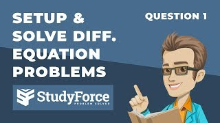 📚 How to setup and solve differential equation problems (Question 1)